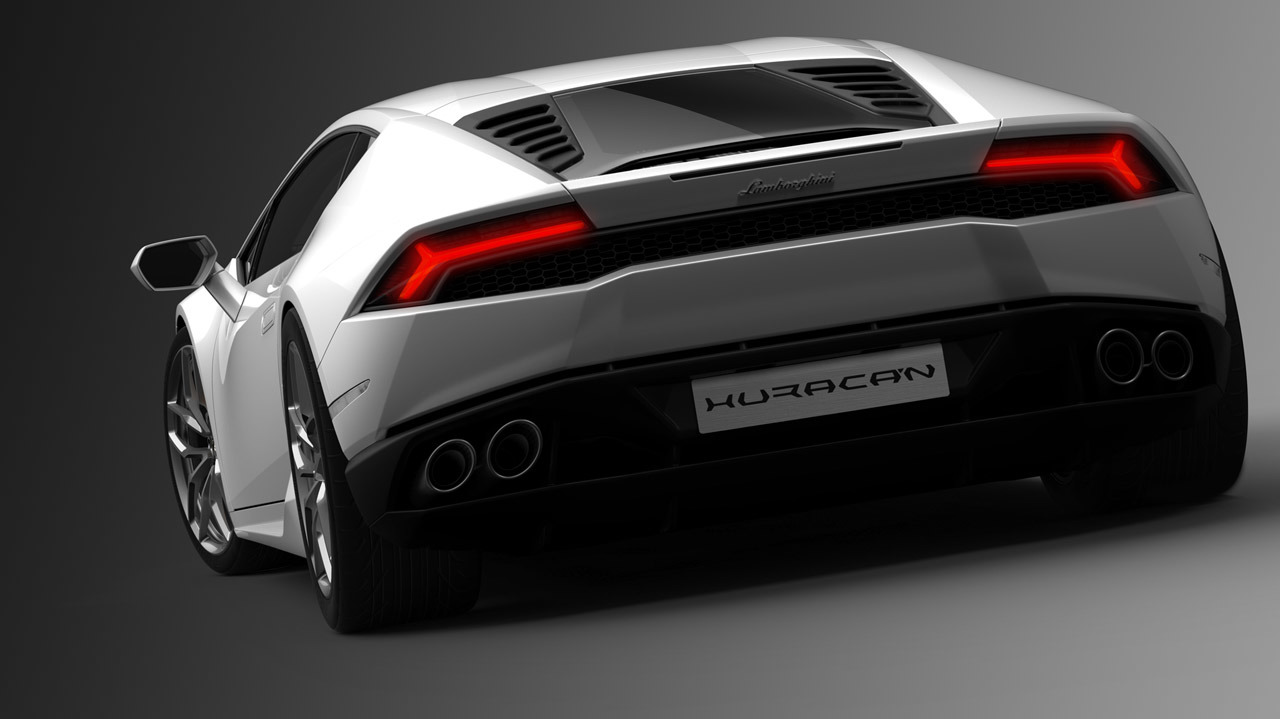 Lamborghini Huracan rear back lights