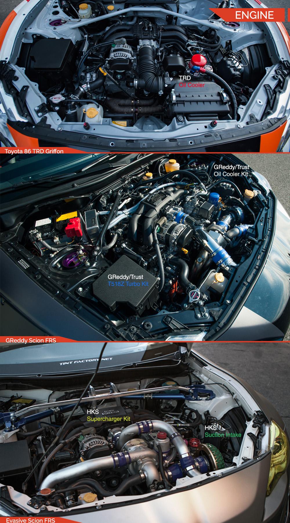Toyota 86 scion fr s subaru brz battle royale engine